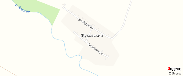 Улица Дружбы на карте Жуковского поселка с номерами домов