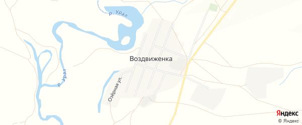 Карта поселка Воздвиженки в Челябинской области с улицами и номерами домов