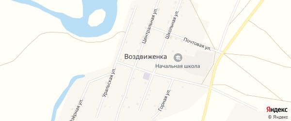 Горная улица на карте поселка Воздвиженки с номерами домов