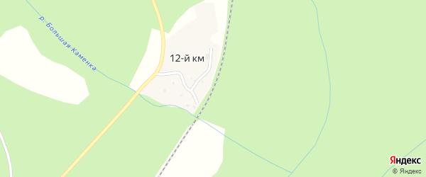 Километр 12 на карте Сатки с номерами домов