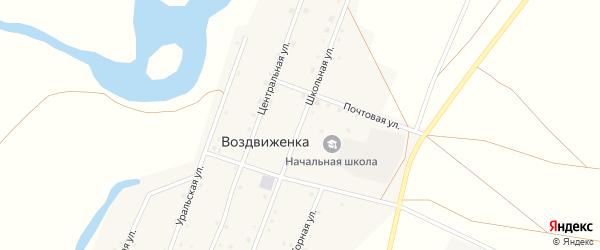 Школьная улица на карте поселка Воздвиженки с номерами домов