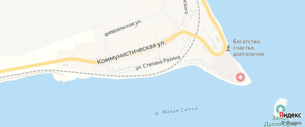 Улица Степана Разина на карте Сатки с номерами домов