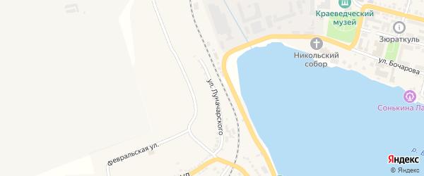Улица Луначарского на карте Сатки с номерами домов