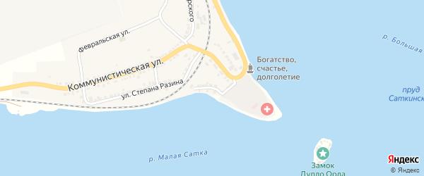 Больничная улица на карте Сатки с номерами домов