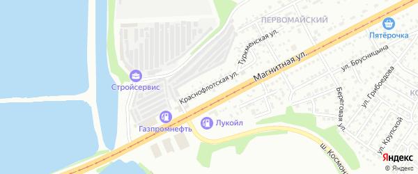 Краснофлотская улица на карте Магнитогорска с номерами домов