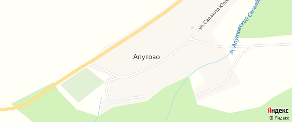 Заречная улица на карте села Апутово с номерами домов