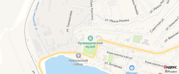 1 Мая площадь на карте Сатки с номерами домов