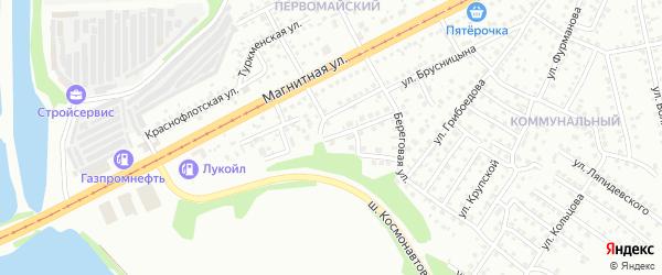 Большая Пролетарская улица на карте Магнитогорска с номерами домов