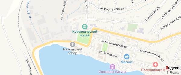 1 Мая улица на карте поселка Сибирки с номерами домов