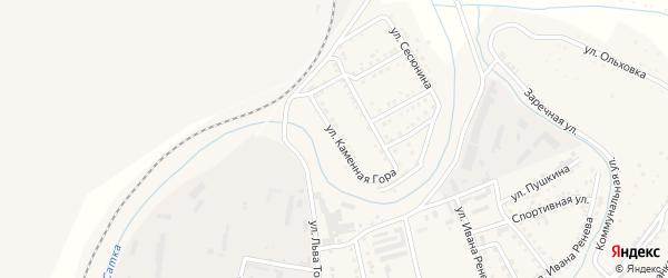 Улица Каменная Гора на карте Сатки с номерами домов