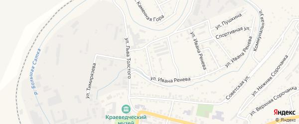 Улица Некрасова на карте Сатки с номерами домов