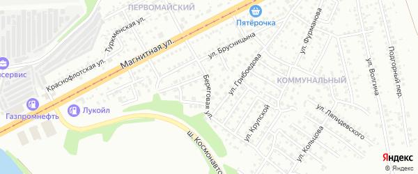 Береговая улица на карте Южноуральска с номерами домов