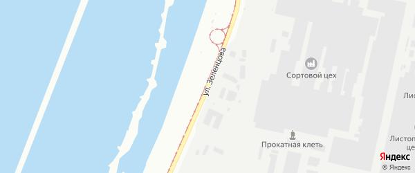 Улица Зеленцова на карте Магнитогорска с номерами домов