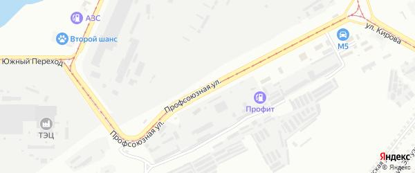 Профсоюзная улица на карте Магнитогорска с номерами домов