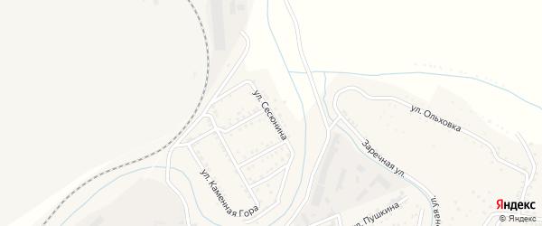 Улица Сесюнина на карте Сатки с номерами домов