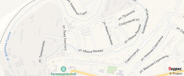 Улица Спортплощадь на карте Сатки с номерами домов
