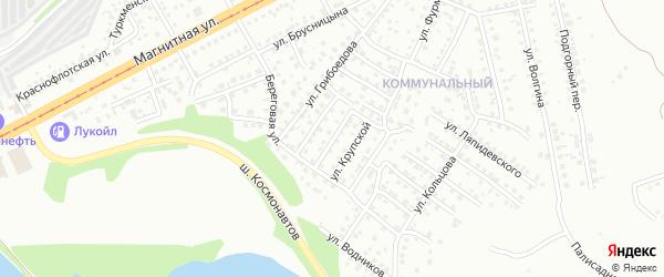 Ложбинная улица на карте Магнитогорска с номерами домов