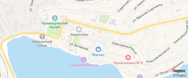 Советский переулок на карте Сатки с номерами домов