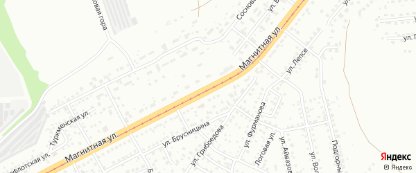 Магнитная улица на карте Челябинска с номерами домов