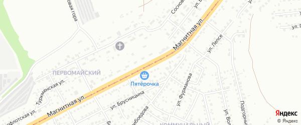Магнитная улица на карте Магнитогорска с номерами домов