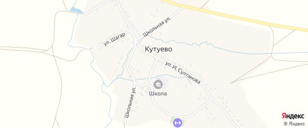 Школьная улица на карте деревни Кутуево с номерами домов