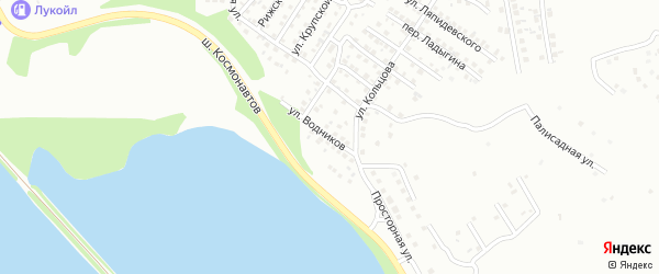 Улица Водников на карте Магнитогорска с номерами домов