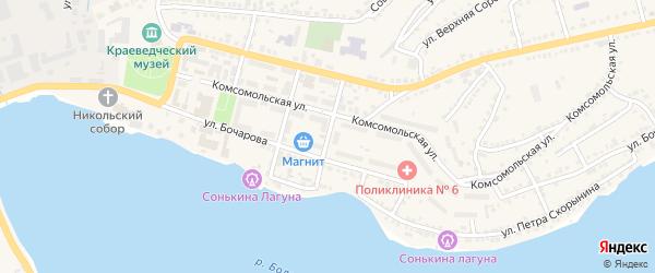 Транспортный переулок на карте Сатки с номерами домов