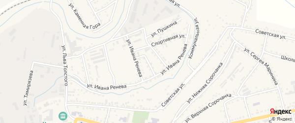 Улица Горького на карте Сатки с номерами домов