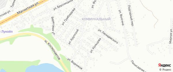Перекопский переулок на карте Магнитогорска с номерами домов