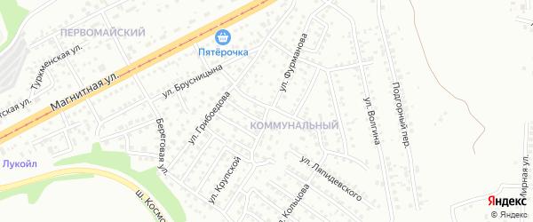 Улица Фурманова на карте Магнитогорска с номерами домов
