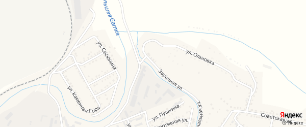 Коммунальная улица на карте Сатки с номерами домов