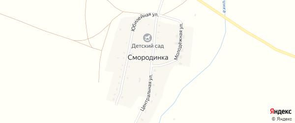Юбилейная улица на карте поселка Смородинки с номерами домов
