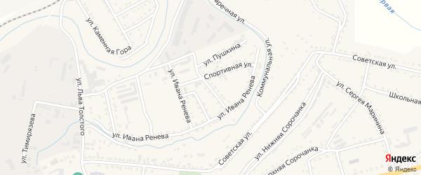 Улица Пушкина на карте Сатки с номерами домов