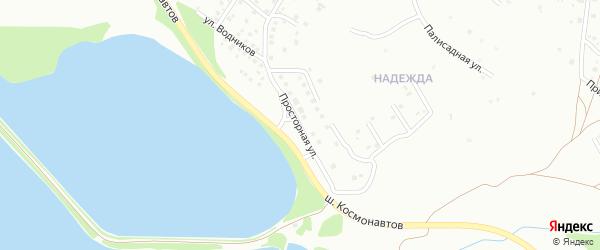 Просторная улица на карте Магнитогорска с номерами домов