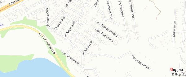Улица Кольцова на карте Магнитогорска с номерами домов