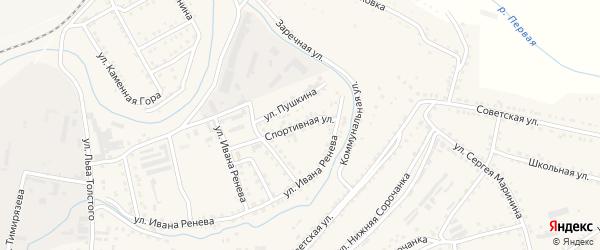 Спортивная улица на карте Сатки с номерами домов