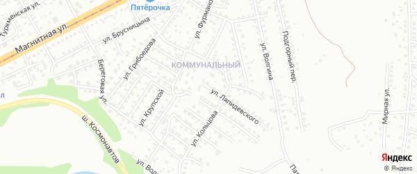 Улица Ляпидевского на карте Магнитогорска с номерами домов