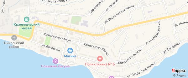 Крутой переулок на карте Сатки с номерами домов