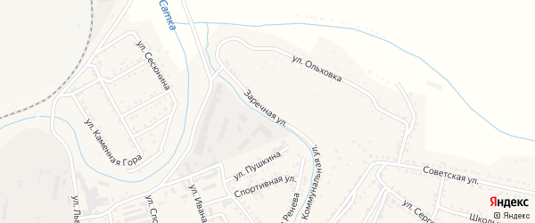 Заречная улица на карте Сатки с номерами домов