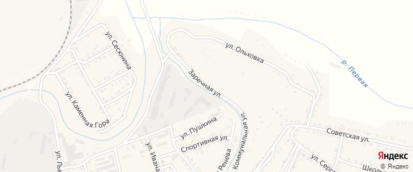 Заречная улица на карте поселка Сибирки с номерами домов