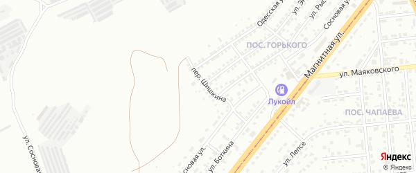 Переулок Шишкина на карте Магнитогорска с номерами домов
