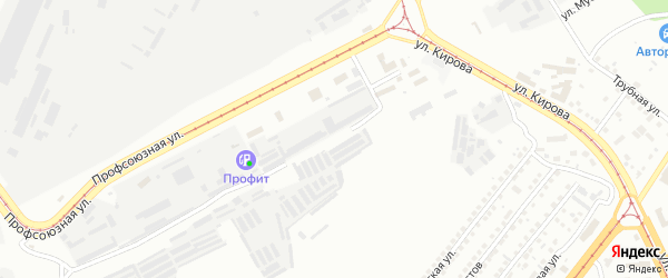 Улица Ухтомского на карте Магнитогорска с номерами домов