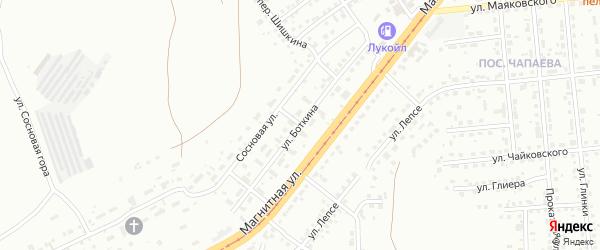 Улица Боткина на карте Магнитогорска с номерами домов