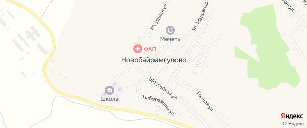 Миндякская улица на карте деревни Новобайрамгулово с номерами домов