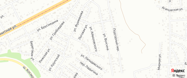 Улица Айвазовского на карте Магнитогорска с номерами домов