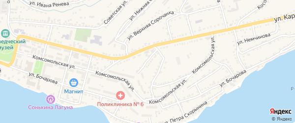 Южный переулок на карте Сатки с номерами домов