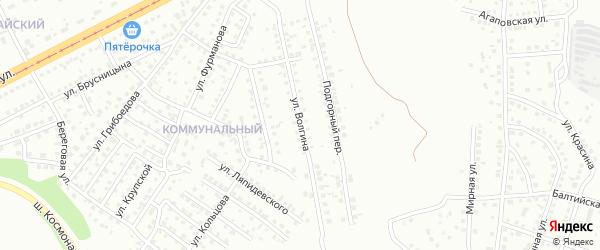 Улица Волгина на карте Магнитогорска с номерами домов
