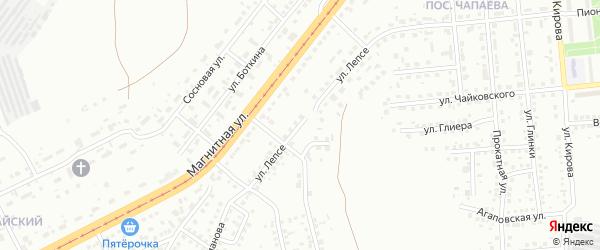 Улица Лепсе на карте Магнитогорска с номерами домов
