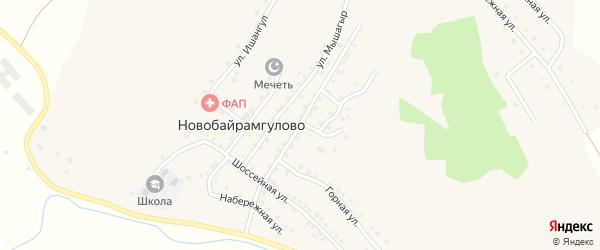 Троицкая улица на карте деревни Новобайрамгулово с номерами домов