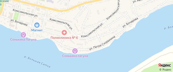 Улица Бочарова на карте Сатки с номерами домов